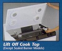 Lift Off Cooktop