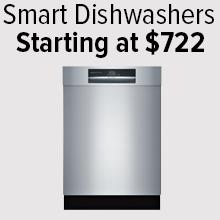 Smart Dishwashers Starting at $722