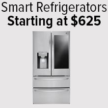 Smart Refrigerators starting at $625