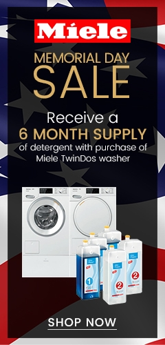 Miele Memorial Day Sale - Receive 6 Month Supply of Detergent with Miele TwinDos Washer Purchase