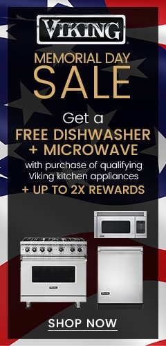 Viking Memorial Day Sale - Free Dishwasher and Microwave with Kitchen Appliance Package