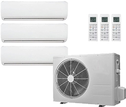 3 Zones Mini Split Air Conditioner