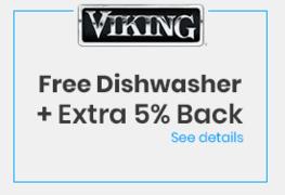 FREE Dishwasher + Extra 5% Back