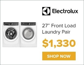 """Electrolux 27"""" Front Load Laundry Pair for only $1,330. Shop Now."""