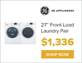 """Ge 27"""" Front Load Laundry for only $1,336. Shop Now."""