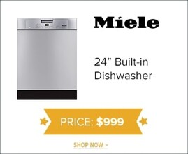 """Miele 24"""" Built-In Dishwasher for $999. Shop Now."""