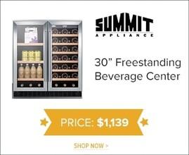 "Summit 30"" Freestanding Beverage Center for $1,139. Shop Now."