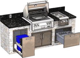 Alfresco Outdoor Kitchen and Entertaining Luxury Small Island