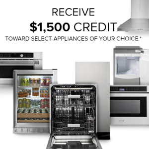 Free/Discounted Appliance of your choice