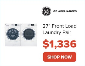 "GE Front Load 27"" Washer and Dryer for only $1,336. Shop Now."