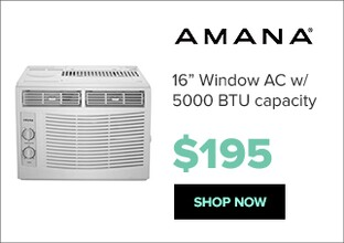 Amana AMAP050BW air conditioner for $195