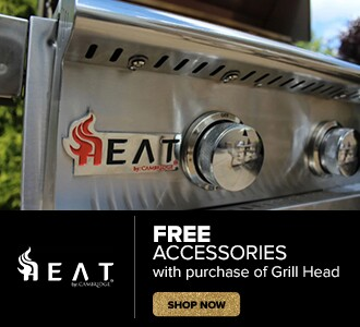 Free Accessories with purchase of select Heat grill head. Shop Now.