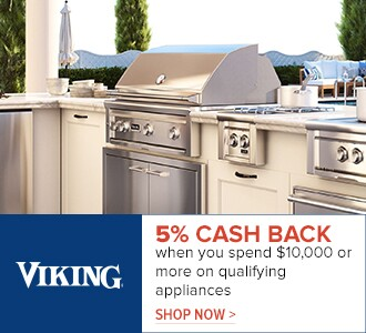 Viking - 5% cash back when you spend $10,000 or more on qualifying appliances