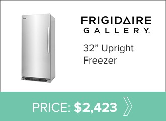 Frigidaire 32 inch upright freezer for $2,423