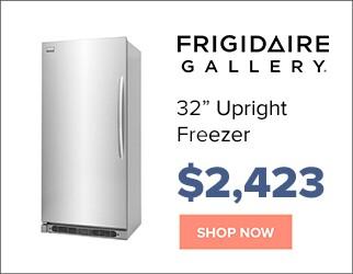 Frigidaire 32 inch upright freezer for $2,423