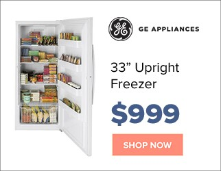 GE 33 inch upright freezer for $999