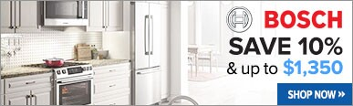 Bosch Save Up to $1,350 Plus 10% Off Kitchen Packages