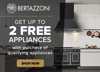 Get up to 2 FREE Appliances with purchase of qualifying Bertazzoni Appliances