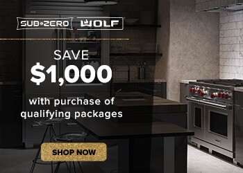 Save $1,000 with purchase of qualifying Sub-Zero and Wolf package