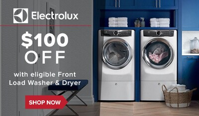 $100 off select Electrolux Laundry Pairs