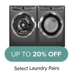 Up to 20% Off Select Laundry Pairs.