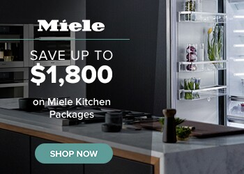 Save $1,800 with purchase of qualifying Miele packages