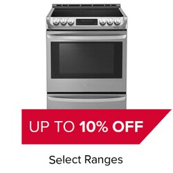 Up to 10% Off Select Ranges.