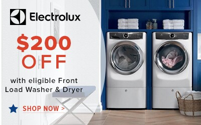 Electrolux Laundry $200 Off with eligible Front Load Washer and Dryer. Shop Now.