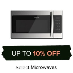 Up to 10% Off Select Microwaves.