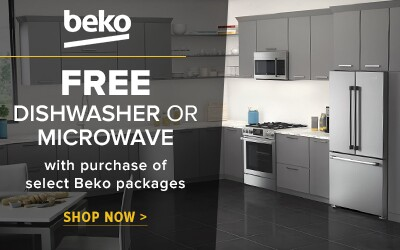 Free Dishwasher or Microwave with purchase of select Beko Packages