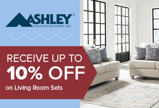 Receive up to 10% Off Ashley Living Room Sets