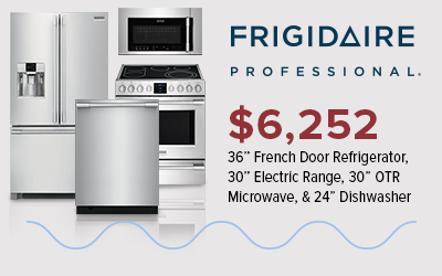 Frigidaire Professional 4-Piece Stainless Steel Kitchen Package for $6,252.