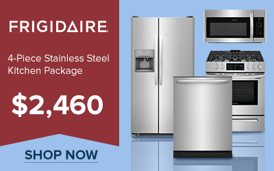 Frigidaire 4-Piece Stainless Steel Kitchen Appliance Package for $2,460
