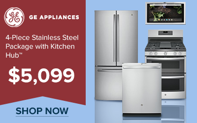 GE 4-Piece Stainless Steel Kitchen Appliance Package with Kitchen Hub for $5,099