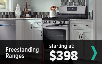 shop freestanding ranges - starting at $398