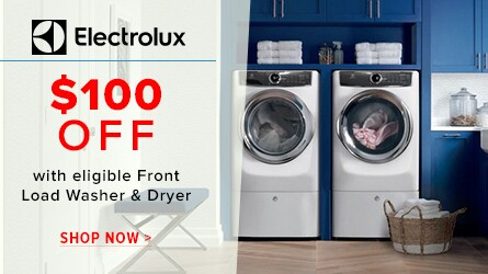 Save up to $100 on Electrolux Laundry