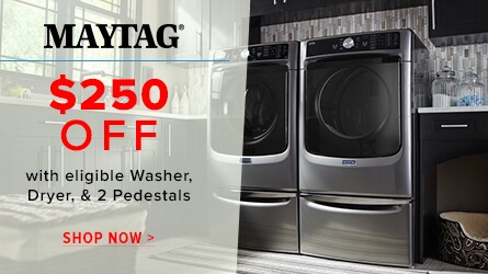 Save $250 on Maytag Laundry
