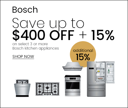 Bosch Save Up to 15% + $450 Off