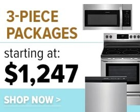 3 piece kitchen appliance packages