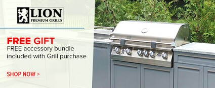 Free Accessory Bundle included with Grill Purchase