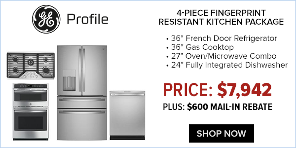ge profile 4 piece kitchen package $7422