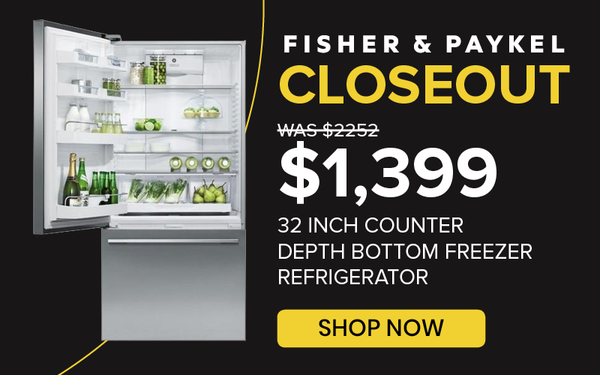 Fisher Paykel 32 Inch Counter Depth Bottom Freezer Refrigerator