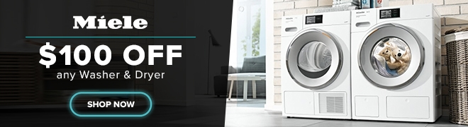 $100 off Miele Laundry