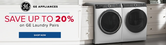 Up to 20% off select GE laundry pairs