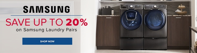 Save up to 20% on Samsung Laundry Pairs. Shop Now.