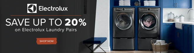 Up to 20% off select Electrolux laundry pairs