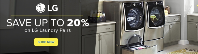 Up to 20% off select LG laundry pairs