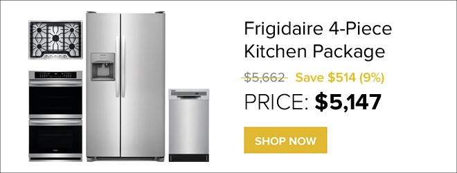 Frigidaire 4-Piece Kitchen Package for only $5,147. Shop Now.