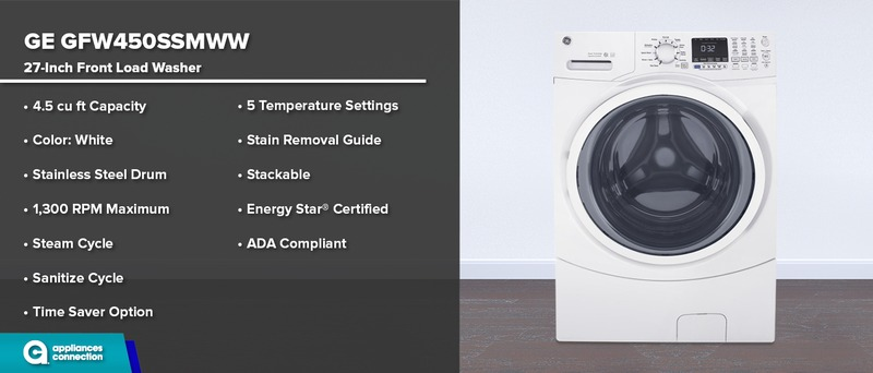 GE GFW450SSMWW 27-Inch Washer