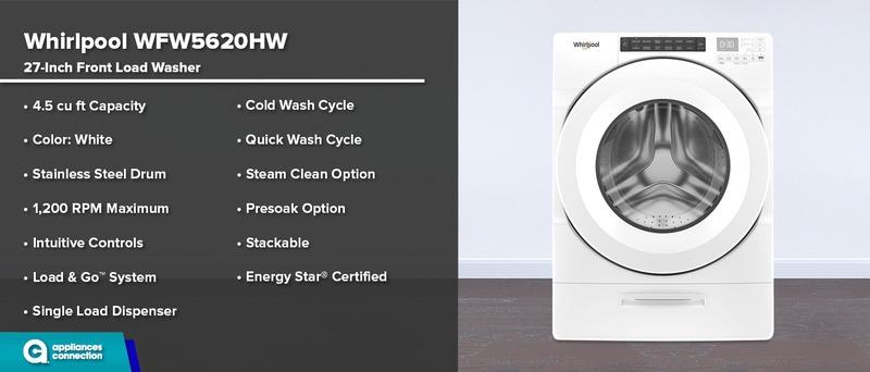 Whirlpool WFW5620HW 27-Inch Washer